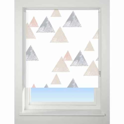 Universal Patterned Blackout Roller Blind - Textured Triangle